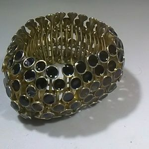 Jewelry - Vintage jewelry mid-century modern black gold